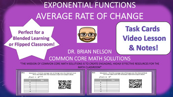 Average Rate of Change  (Task Cards, Video Lesson & Notes!)
