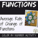 PreCalculus Average Rate of Change of Functions Color by number Activity