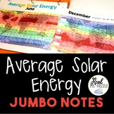 Average Solar Energy JUMBO Notes and Color-by-Number