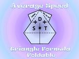 Average Speed Formula Foldable
