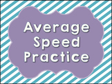 Average Speed Practice Problems with Key