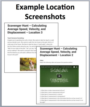 Average Speed, Velocity, and Displacement – A Digital Scavenger Hunt Activity