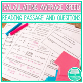 Average Speed Worksheets and Assessments