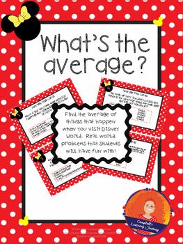 Average (mean)  Word Problem Task Cards