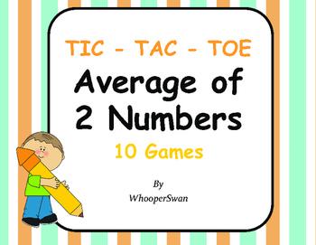 Average of 2 Numbers Tic-Tac-Toe