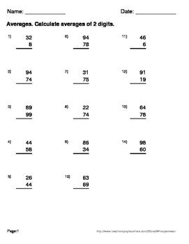 Average of 2 digits Maze