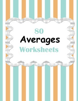 Mean (Averages) Worksheets