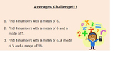 Averages Challenge