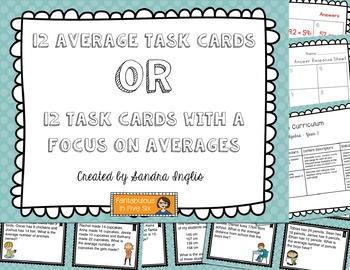 Averages Task Cards