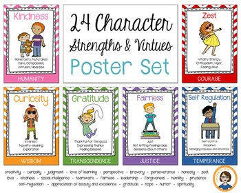 Character Strength Posters - A4 size