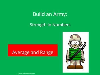 Averages and Range Activity: Build an Army