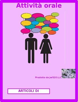 Avere e Articoli di cancelleria (School in Italian) Partner Speaking activity 2