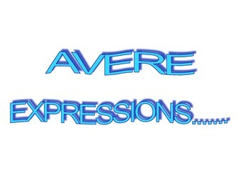 Avere expressions flashcards/ memory cards