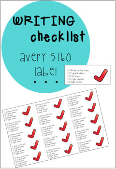 Avery 5160 Labels - WRITING CHECKLIST