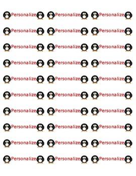 Avery 8160 Labels Penguins {editable]