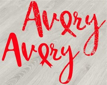 Avery Breast Cancer Ribbon Silhouette SVG Die Cut Machines love faith hope -823S
