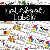 Student Notebook and Folder Labels {Avery Labels}