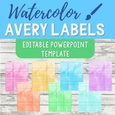 Avery Label 5160 PowerPoint Template - Watercolor
