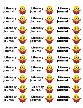 Avery Labels for Literacy Journal