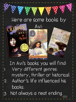 Avi Author Study