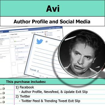 Avi - Author Study - Profile and Social Media
