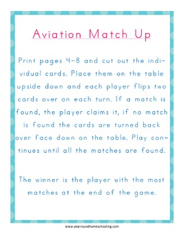Aviation Matching Game