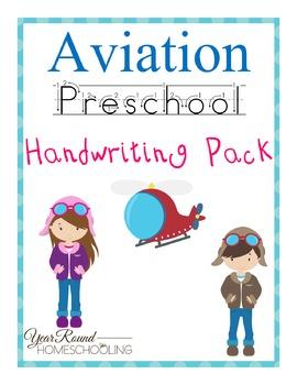 Aviation PreK Handwriting Pack