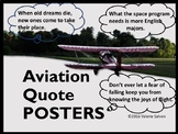 Aviation Quote/Photo Posters---Flight, Dreams and Pilots i