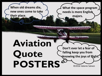 Aviation Quotes with Photos Posters---Pilots, Flight and Dreams