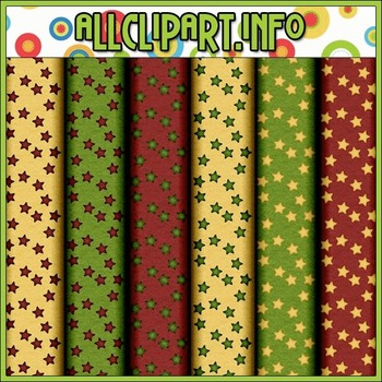 Aviator Santa Stars Digital Papers