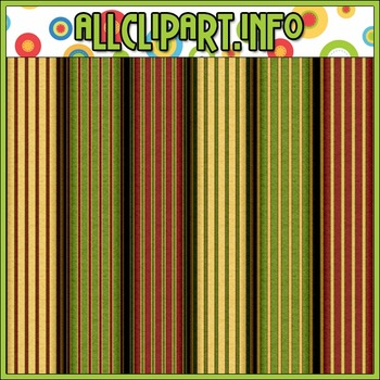 Aviator Santa Stripes Digital Papers