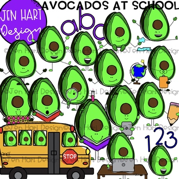 Avocado Clipart - Avocados at School {Jen Hart Clip Art}