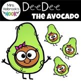 Avocado Clipart: DeeDee the Avocado