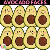 Avocado Faces Clipart