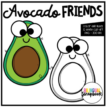 Avocado Friends (Clip Art for Personal & Commercial Use)