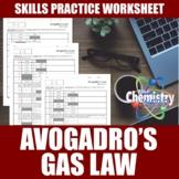 Avogadro's Law Worksheets   Print   Digital   Self-Grading
