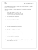 Avogadro's number - small numbers and big numbers worksheet