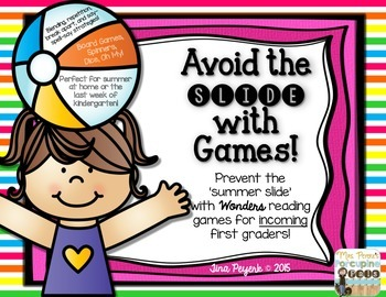 Avoid the Summer Slide with Games! {Wonders for Incoming First Graders}