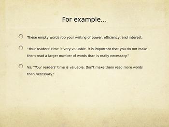 Avoiding Empty Words: How to Write More Interesting Prose