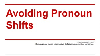 Avoiding Pronoun Shifts