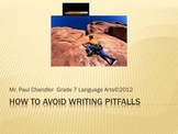 Avoiding Writing Pitfalls Middle School Language Arts