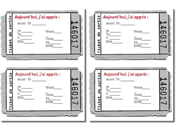 Avoir Exit Ticket