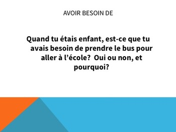 Avoir Expressions Task Cards - Beginner French Level - Cartes à Tâches