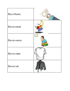 Avoir and Etre Expressions Game