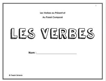 French Verb Conjugation Package: Present and Past Tense (Passé Composé)