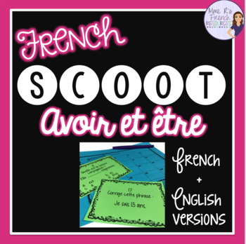 French verbs - Avoir and être present tense Scoot! game an