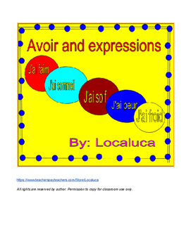 Avoir + expressions