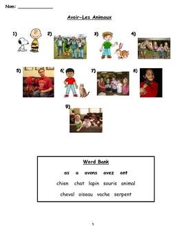 Avoir match worksheet 2