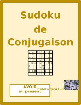 Avoir present tense French verb Sudoku