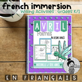 French Writing Prompts - Maternelle (avril) Première Année